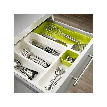 Kitchen Expandable Cutlery Drawer Organizer Tray image 2