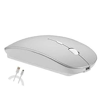 Rechargeable Mouse - 2.4G Optical Mouse Circular  (Silver) - Generic