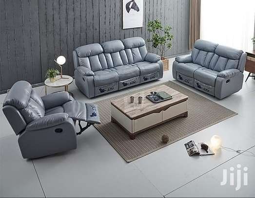 On OFFER: 6 Seater Recliner Leather Sofa Set (Brandnew, Canada Import) image 1
