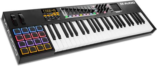 M-Audio Code 49 (Black)   USB MIDI Controller With 49-Key Velocity Sensitive Keybed, X/Y Pad, 16 Velocity Sensitive Trigger Pads & A Full-Consignment of Production/Performance Ready Controls image 1