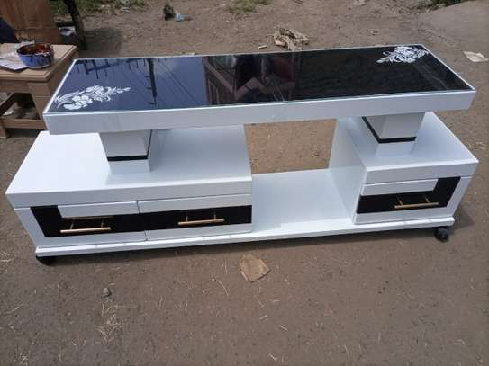 Glass top tv stand image 1