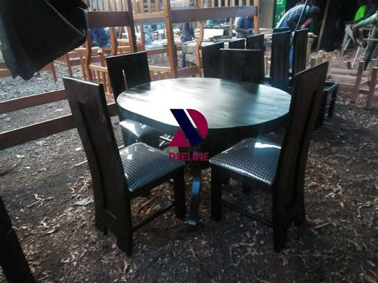 Black 4 Seater Dining Table. image 10