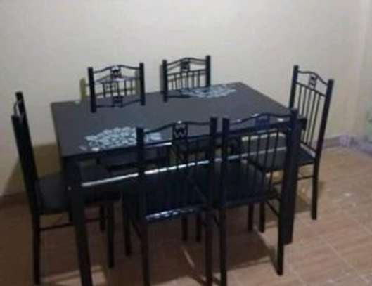 Perfect table for small dining areas while still offering large space for plates, cups and cutlery image 1