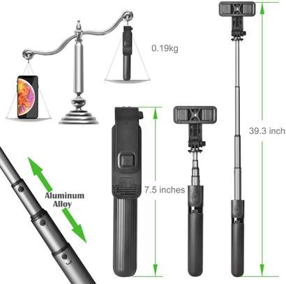 Selfie Stick, Aluminium Alloy Selfie Stick with Detachable Wireless Remote and Mini Tripod Stand Selfie Stick for GOPRO and smartphones image 3