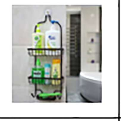 Bathroom Organisers Vertical Fit Shower Caddy - Brown