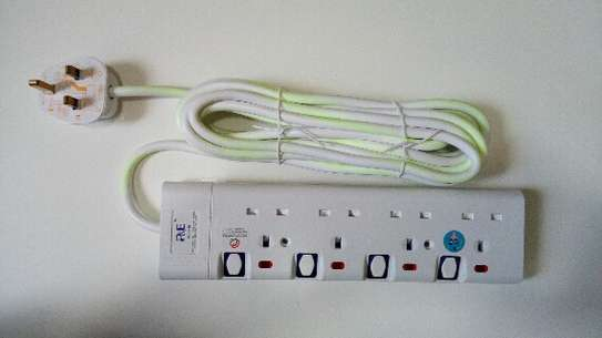 4 Way Electrical Power Extension - 5 Metres image 1