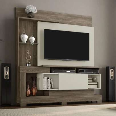 """TV Wall Unit Rack ( Notavel Madri 57053 ) - TV space up to 50 """" - Cinnamon / Sand image 3"""