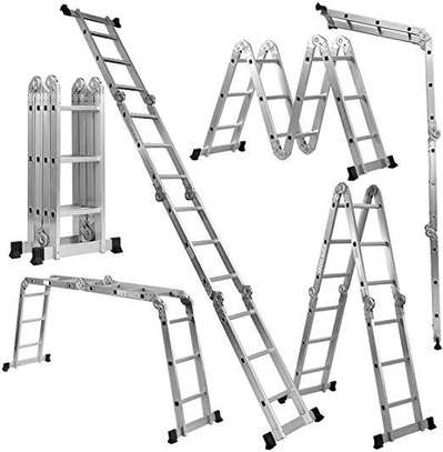 Aluminium multipurpose folding ladders/ joint ladders image 1