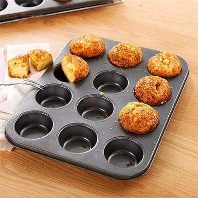12 Holes Non-stick Cupcakes Baking Tins image 1