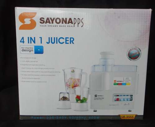 4-In-1 Blender/Juicer - 400W SAYONA
