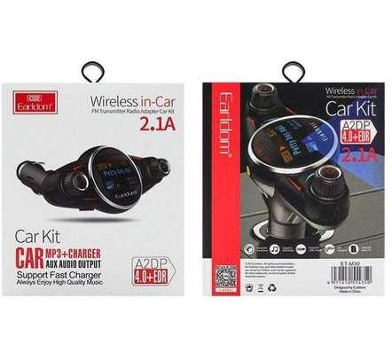 Earldom M30 Car FM Transmitter MP3+Charger+Aux V4.0 Bluetooth Modulator image 4