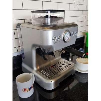 Espresso Machine & Grinder WITH BACK WATER TANK image 3