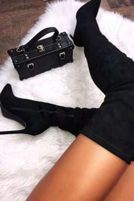 Luxury Thigh high suede boots