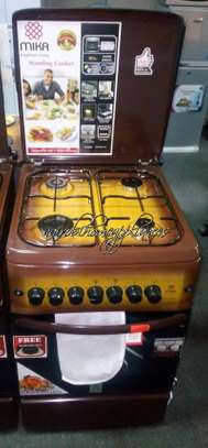 Mika Standing Cooker, 50cm X 55cm, 4GB, Gas Oven, Light Brown TDF image 1
