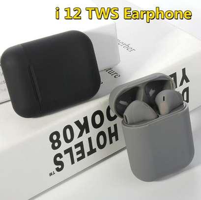 i12 TWS Airpods wireless Bluetooth Earphone Bluetooth 5.0 Earbuds sport Headset image 3