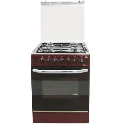 RAMTONS 4 GAS 55X55 DARK RED COOKER 5694- EB/303 image 1