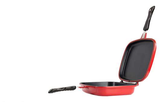 SQ PROFESSIONAL DOUBLE GRILL SIDED PAN NON-STICK WITH EXTRA RUBBER SEAL image 3