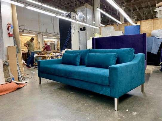 Three seater sofa/Modern blue sofas/Classic sofas kenya image 1