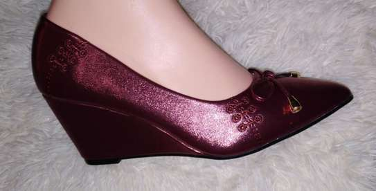 Maroon Wedge Shoe