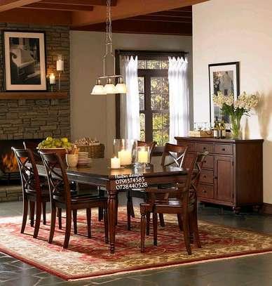 Mahogany Dining set/Six seater dining table image 1
