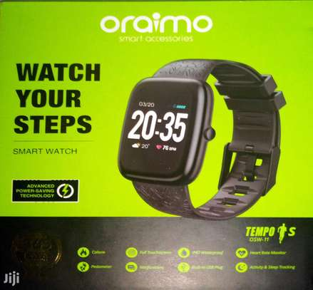 Oraimo Tempo-S IP67 Waterproof Smart Watch with Real-Time Notification, Pedometer/Calorie/Heart Rate Monitor and Activity & Sleep Tracking image 1
