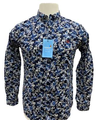 Fashion flowers men shirt