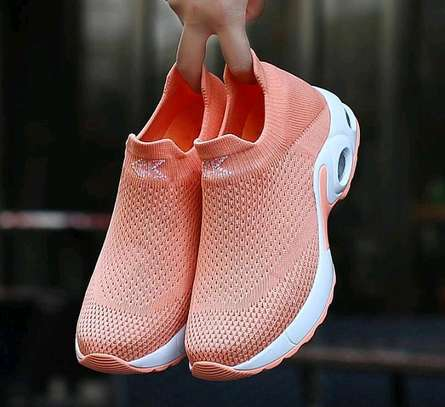 Women casual running breathable mess hallow plattform sneakers image 3