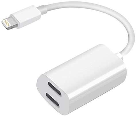 2 IN 1 LIGHTNING ADAPTER AND CHARGER FOR iPhone 7 7+ 8 8 Plus X image 2