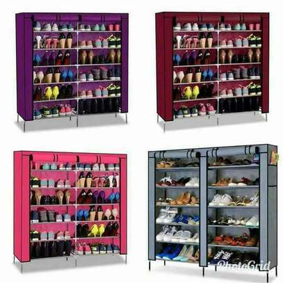 36 PAIRS PORTABLE SHOE RACK image 1