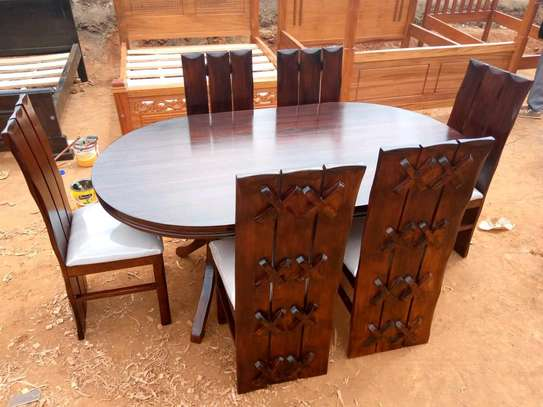 Oval stain dinning set