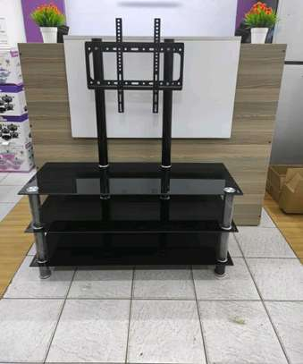 Glass TV Stand with TV Mount image 1