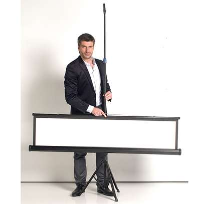 Stand Alone Tripod Projections Screen in stock  Sale. 60x60 Inches image 2