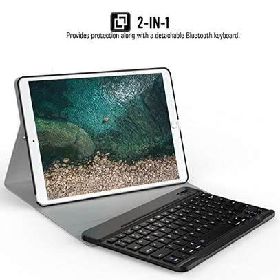 Detachable Smart Wireless bluetooth Keyboard Kickstand Tablet Case For iPad Air 3 10.5 inches image 3