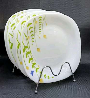 Available ceramic round dinner plate image 1