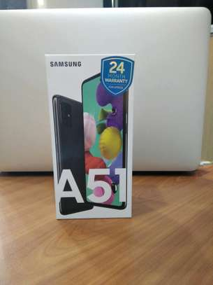Samsung Galaxy A51 brand new and sealed in a shop.