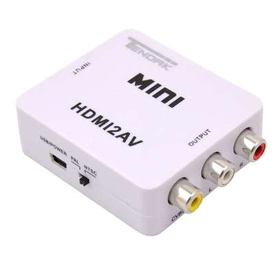 Mini HDMI 2 AV (CVBS) HD Video Converter image 1