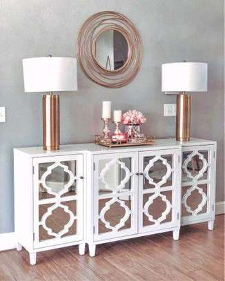 White console table designs/white mirrored buffet table ideas,designs and inspo/Buffet set/buffet cabinets kenya image 1
