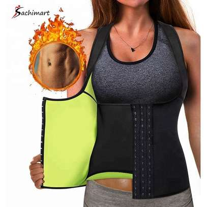 Women Slim Lift Body Shaper Tank Top Vest Weight Loss Jogger Back Pain Corset Sweat Waist Belt image 1