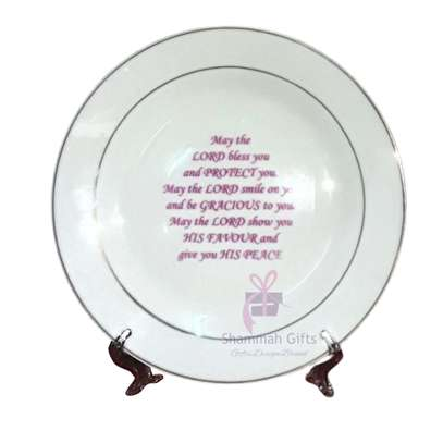 Ceramic plates printed with a custom message or photo @ Kes.700 each image 1