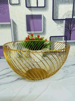 Golden fruit holder image 1