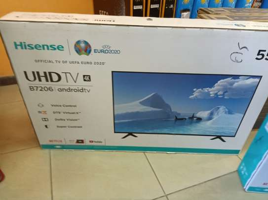 Hisense 55 smart android uhd tv