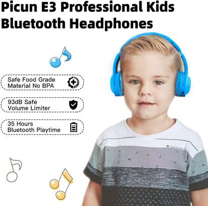 Picun E3 Bluetooth Headphone for Kids (Blue) image 7