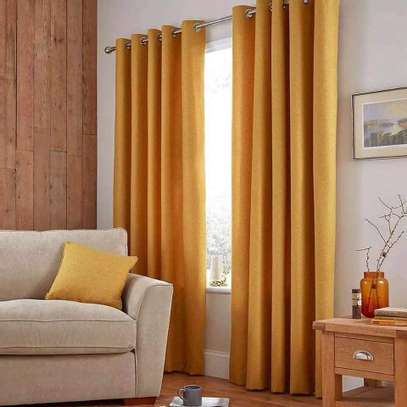 Mustard Yellow Linen Curtains image 1