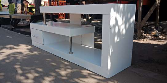 5ft All White Tv Stand