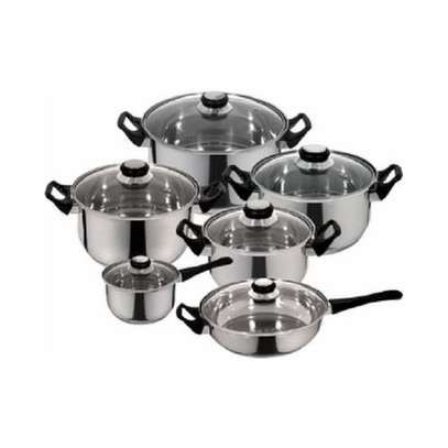 12 Pieces Stainless Steel Cookware Set. image 1