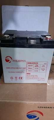 Solarpex deep cycle gel battery 12v 26Ah 10hr image 1
