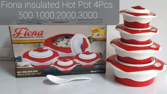4pcs Redberry Fiona Insulated Hot Pots image 1