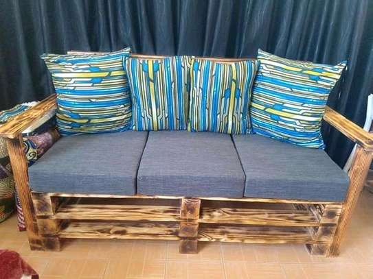 Beautiful Rustic Quality 3 Seater Outdoor Pallet Sofa image 1