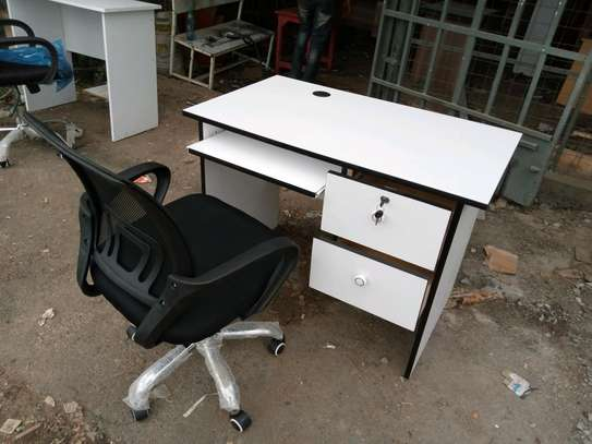 office desk 3.5ft and a chair image 2
