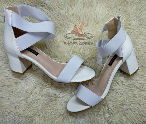 Open chunky heels image 4